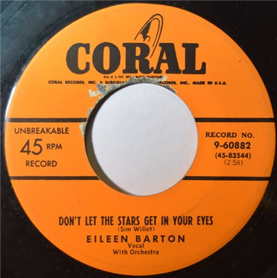 Eileen Barton - Don't Let The Stars Get In Your Eyes / Tennessee Tango download mp3 flac