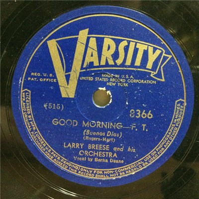 Larry Breese And His Orchestra - Good Morning / I Feel Like A Kid Again download mp3 flac