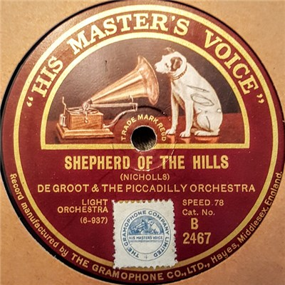 De Groot & The Piccadilly Orchestra - Shepherd Of The Hills / In A Little Spanish Town download mp3 flac