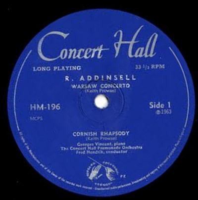 R. Addinsell, H. Alfven, The Concert Hall Promenade Orchestra, Fred Hendrik - Warsaw Concerto / Cornish Rhapsody / Swedish Rhapsody No. 1 download mp3 flac