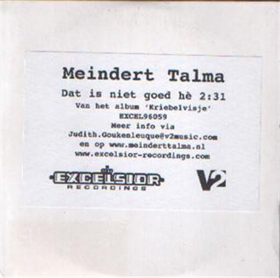 Meindert Talma - Dat Is Niet Goed Hè download mp3 flac