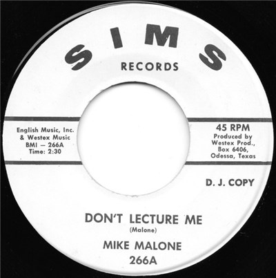 Mike Malone - Don't Lecture Me / Left, Right (Walking Back Home) download mp3 flac