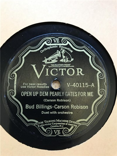 Bud Billings - Carson Robison - Open Up Dem Pearly Gates For Me / Old Kentucky Cabin download mp3 flac