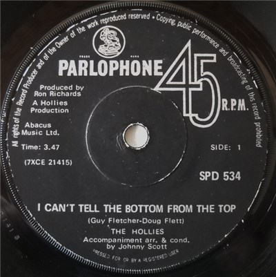 The Hollies - I Can't Tell The Bottom From The Top download mp3 flac