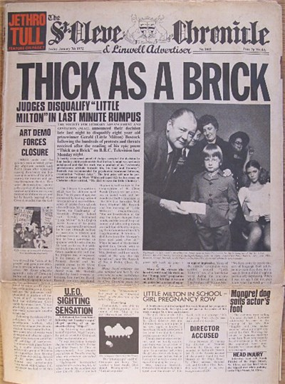 Jethro Tull - Thick As A Brick download mp3 flac