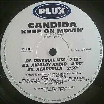 Candida - Keep On Movin' download mp3 flac